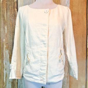 Sanctuary Clothing Ivory Jacket Linen Blend sz S